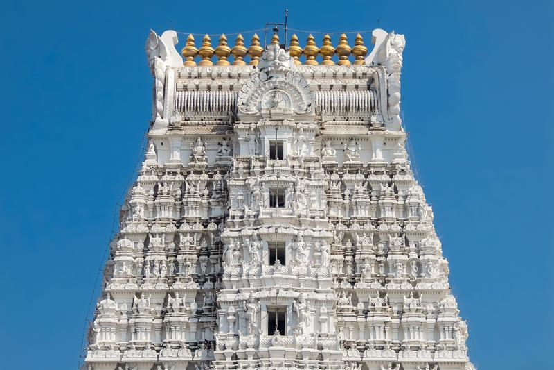 Arkitektur av Sri Govinda Raja Swamy Temple, Tirupati, Indien royaltyfria foton