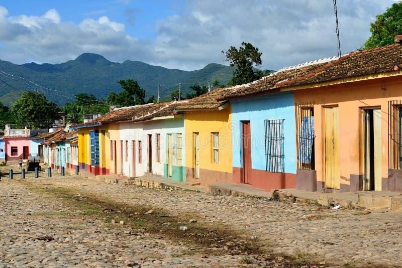 Arkitektur av Trinidad på Kuba arkivbild