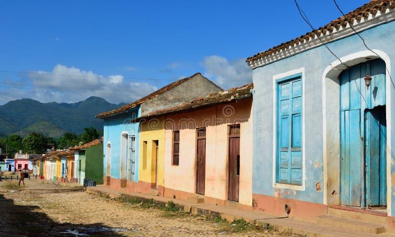 Arkitektur av Trinidad på Kuba royaltyfria bilder