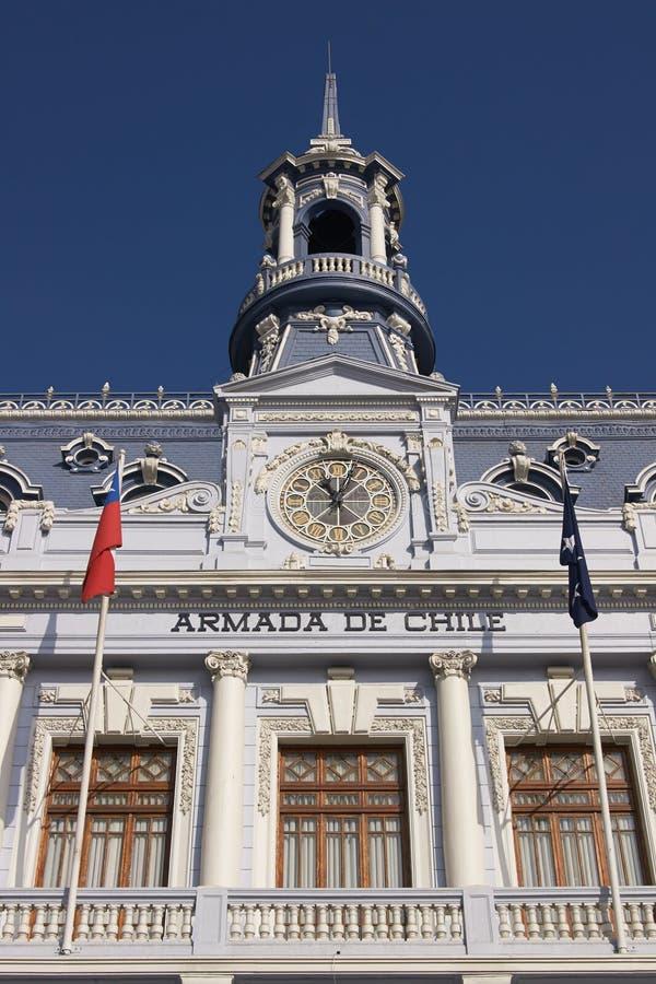 Arkitektur av Valparaiso royaltyfria foton