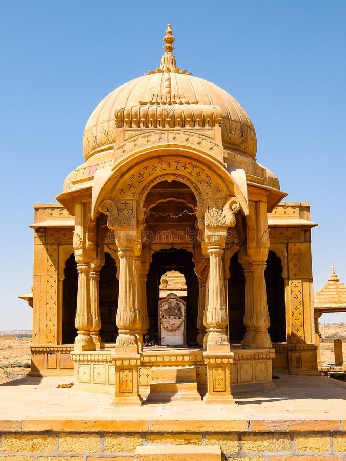 Arkitektur av Vyas Chhatri i det Jaisalmer fortet royaltyfri fotografi