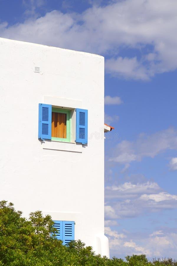 arkitektur balearic formentera houses öar royaltyfri bild