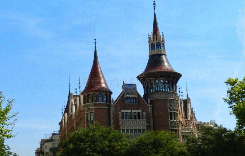 arkitektur barcelona arkivbilder