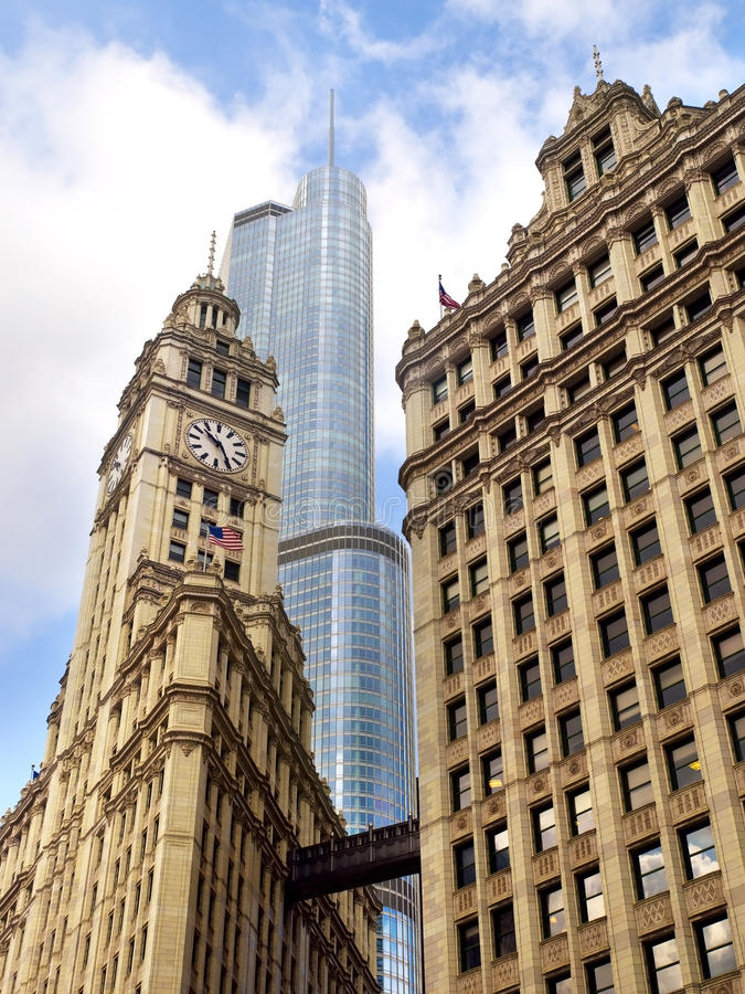 arkitektur blandade chicago royaltyfri fotografi