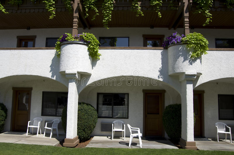 Arkitektur för hotellbyggnadstysk arkivbilder