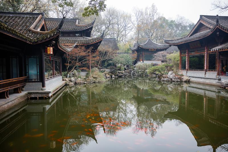 Arkitektur för traditionell kines och tehus royaltyfria bilder