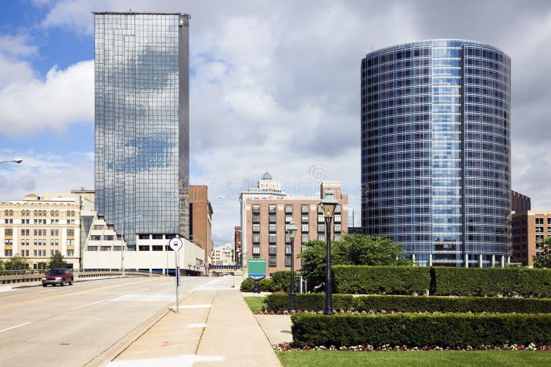 arkitektur Grand Rapids royaltyfria bilder