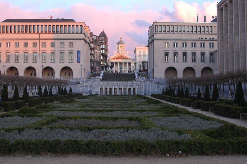 Arkitektur i den historiska delen av Bryssel, Belgien fotografering för bildbyråer