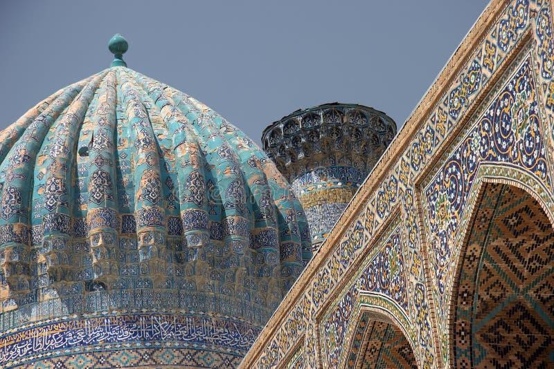 arkitektur islamiska samarkand uzbekistan arkivfoto
