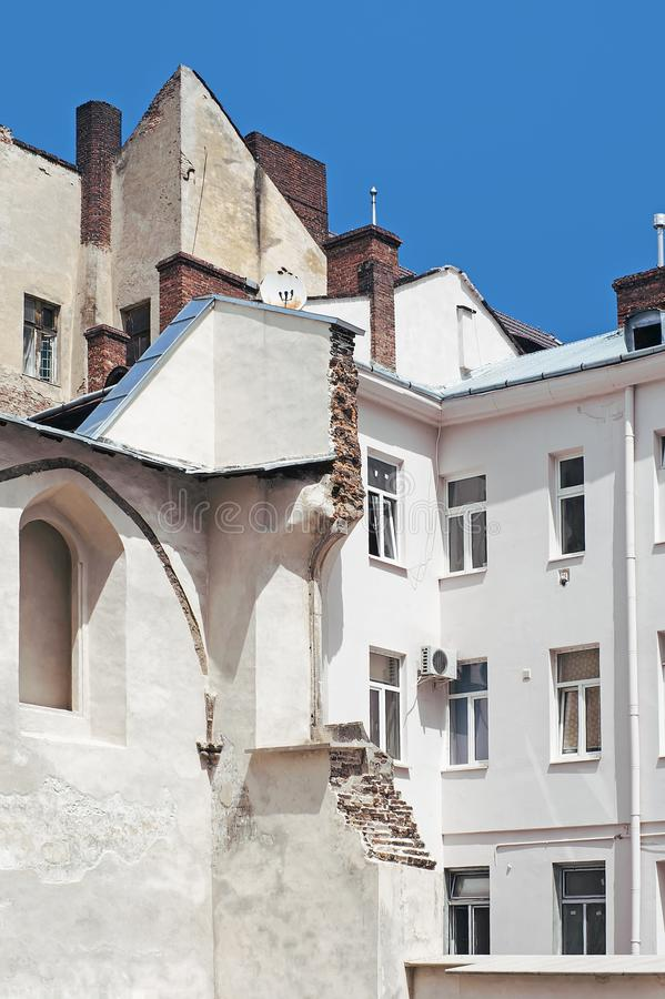 Arkitektur Lviv, Ukraina fotografering för bildbyråer