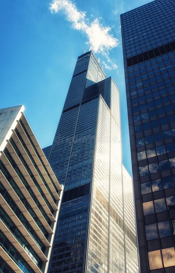 arkitektur moderna chicago arkivfoto