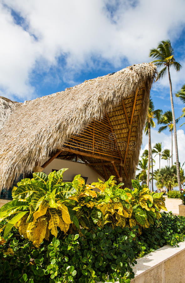 Arkitektur på den tropiska semesterorten royaltyfria foton