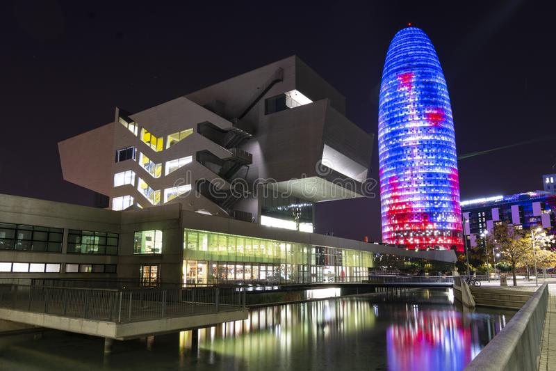 Arkitektur på natten royaltyfri fotografi