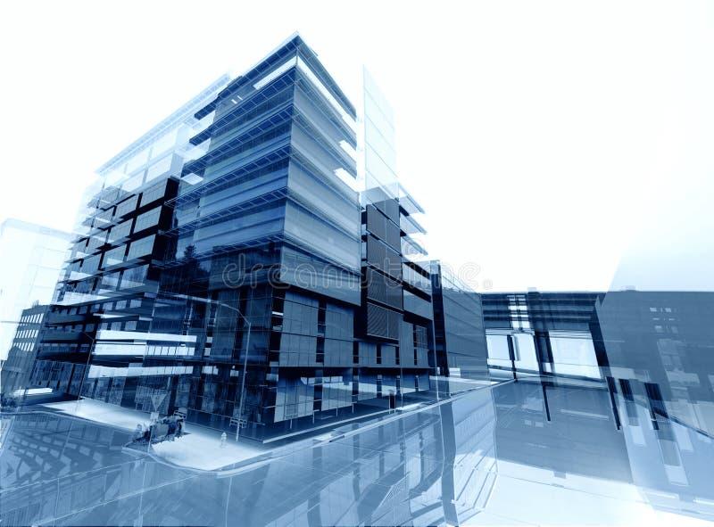 Arkitekturabstrakt begrepp vektor illustrationer