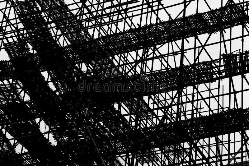 Arkitekturabstrakt begrepp - linjen & asken - Scafffold - konstruktionskonst royaltyfri foto
