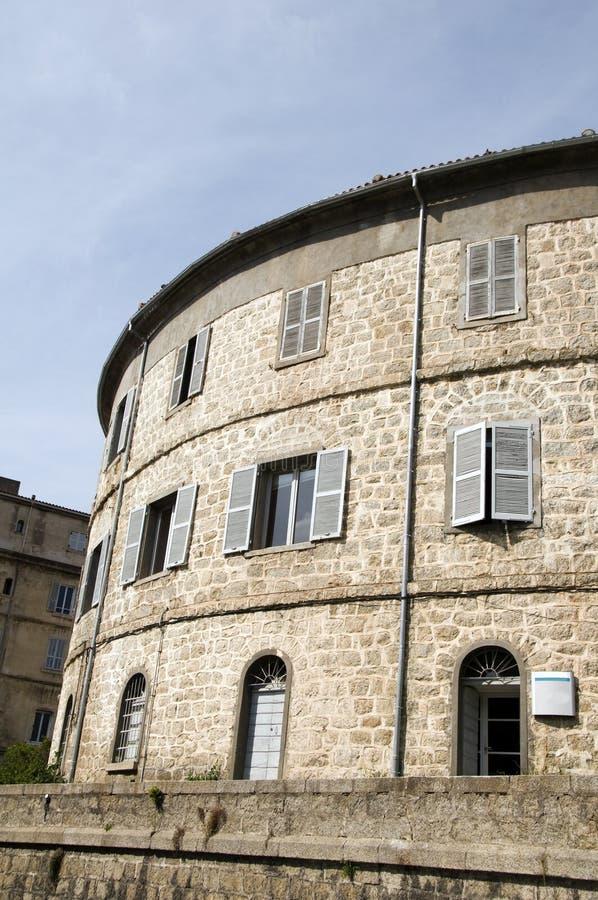 arkitekturbonifacio medeltida corsica fotografering för bildbyråer