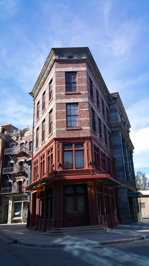 Arkitekturbyggnader på universella studior fotografering för bildbyråer