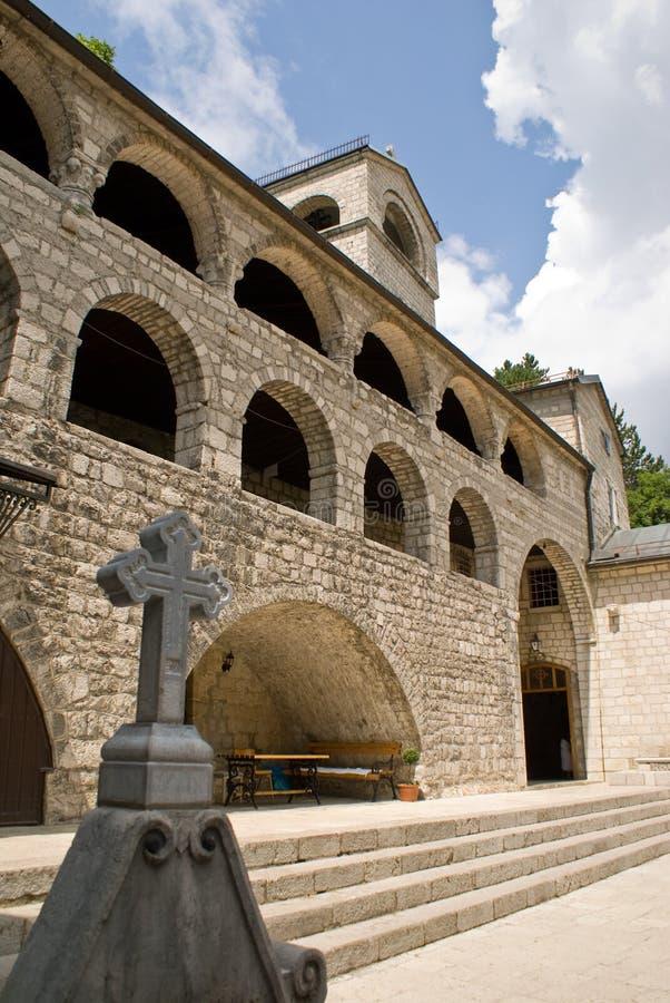 arkitekturcetinjekloster royaltyfri fotografi