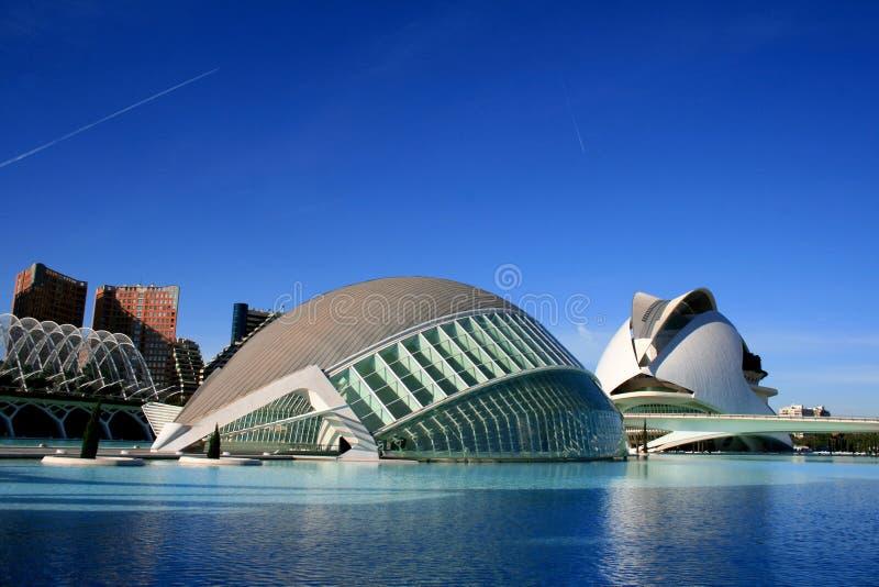 arkitekturdesign moderna spain valencia arkivbild