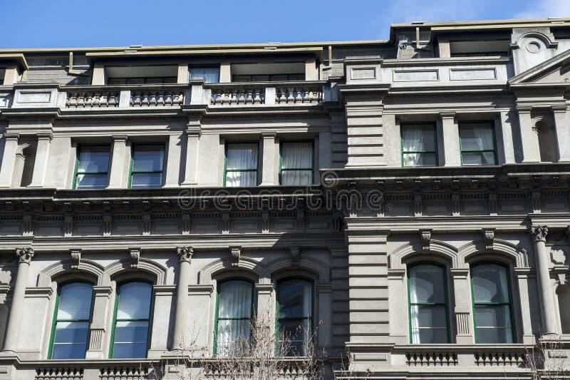 Arkitekturdetalj av byggnad i Australien arkivfoto