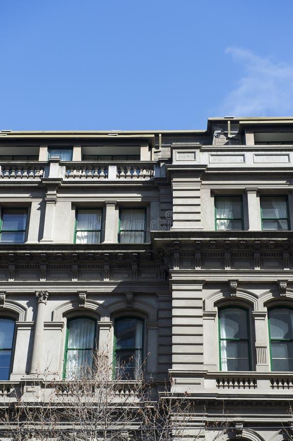 Arkitekturdetalj av byggnad i Australien royaltyfria foton