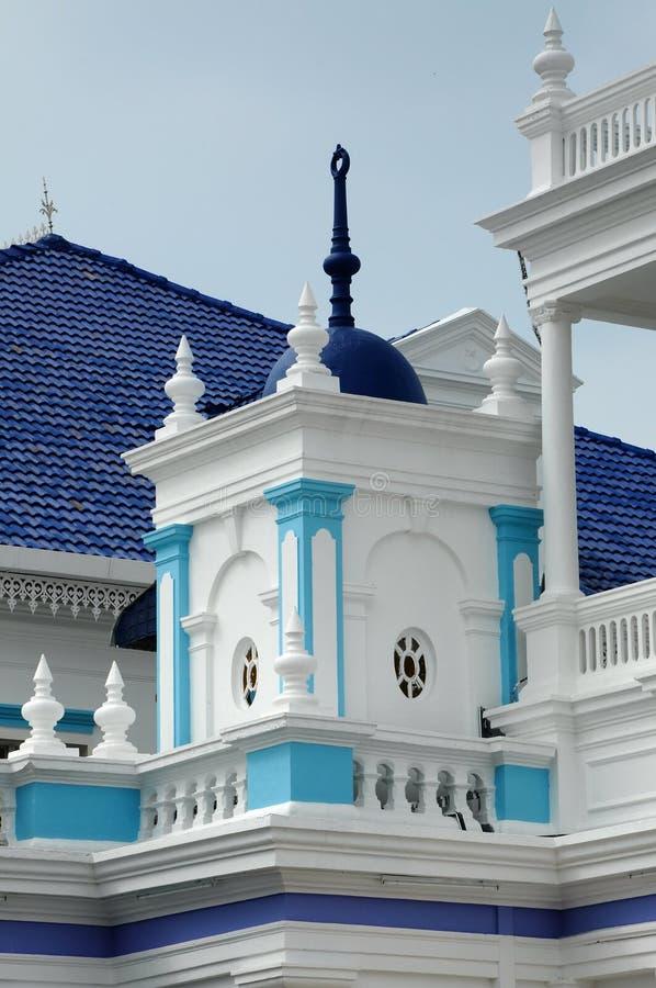 Arkitekturdetalj av Sultan Ibrahim Jamek Mosque royaltyfri foto