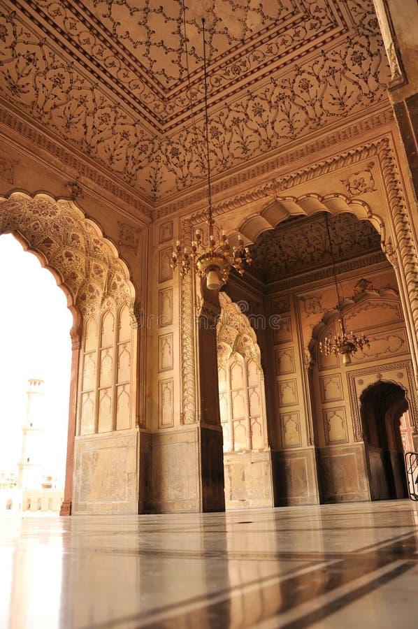 Arkitekturdetaljer av den Badshahi moskén, Lahore arkivfoton