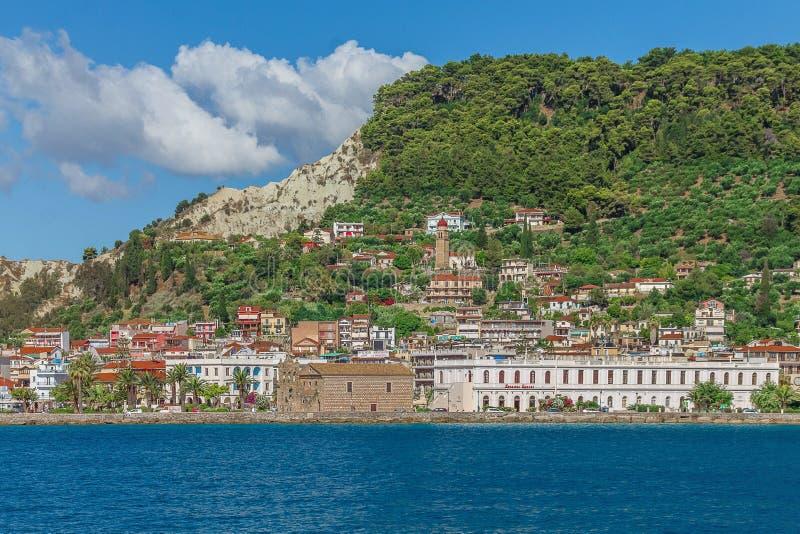Arkitekturen av Grekland öar arkivfoton