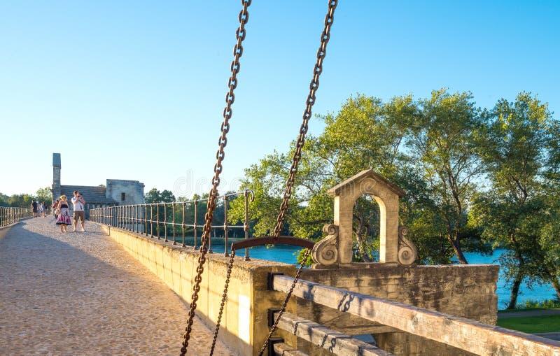 Arkitekturer och monument av Avignon fotografering för bildbyråer