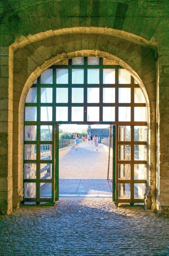 Arkitekturer och monument av Avignon royaltyfri foto