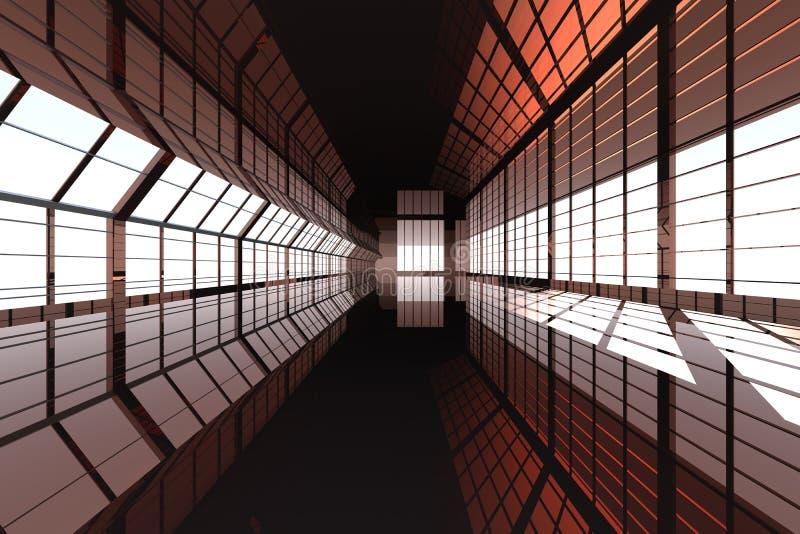 arkitekturhall stock illustrationer