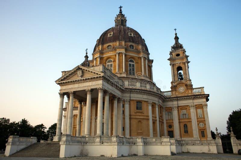 Arkitekturmästerverk Turin Superga royaltyfri bild