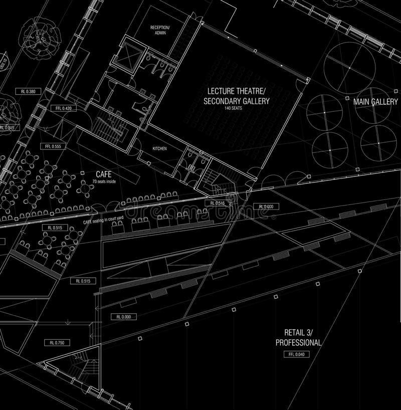 arkitekturplan vektor illustrationer