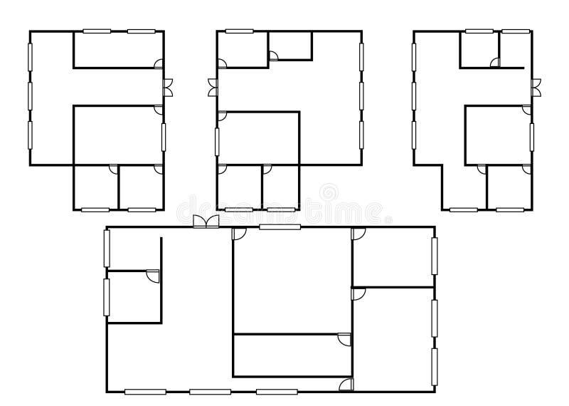 Arkitekturplan i bästa sikt royaltyfri illustrationer