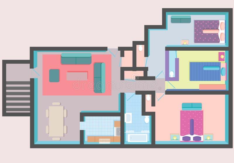 Arkitekturplan i bästa sikt vektor illustrationer