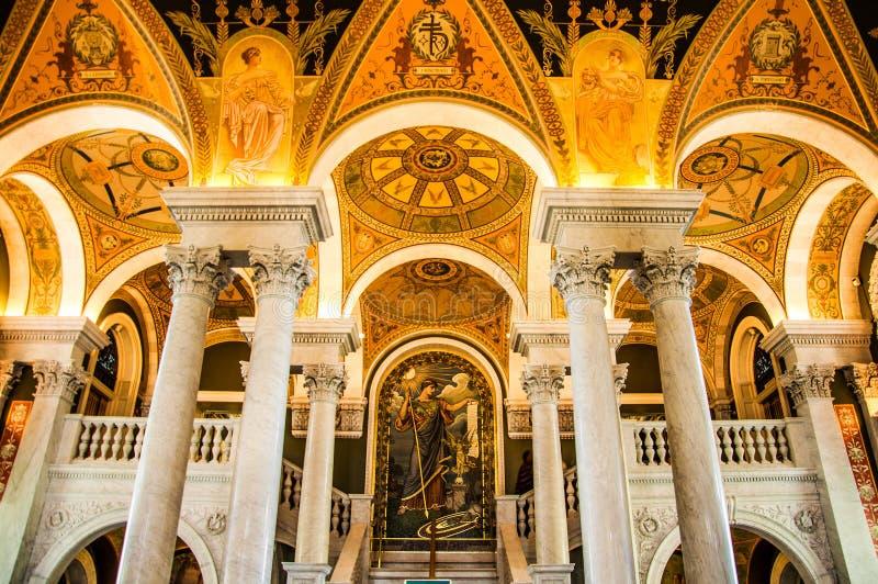 Arkiv av kongressen, Washington, DC, USA royaltyfri bild