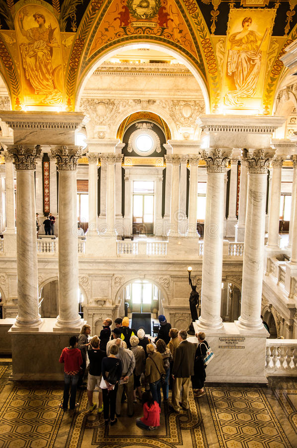 Arkiv av kongressen, Washington, DC, USA arkivfoton