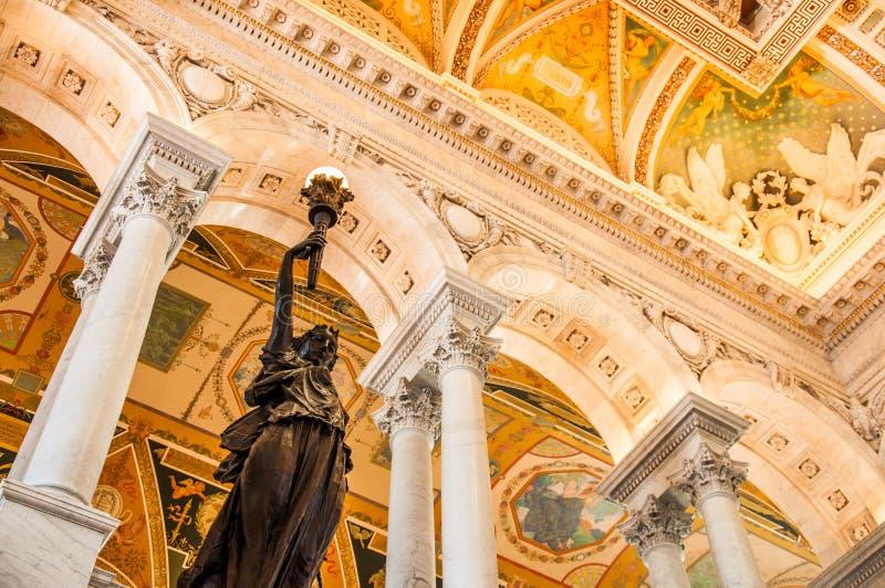 Arkiv av kongressen, Washington, DC, USA arkivbild