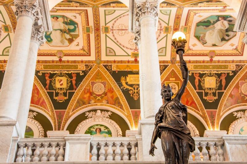 Arkiv av kongressen, Washington, DC, USA royaltyfria bilder