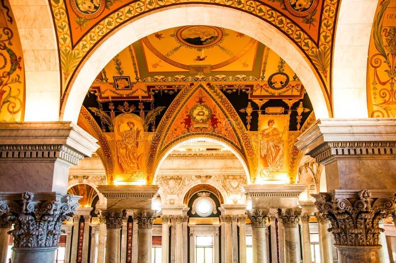 Arkiv av kongressen, Washington, DC, USA royaltyfri fotografi