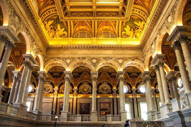 Arkiv av kongressen, Washington, DC, USA fotografering för bildbyråer