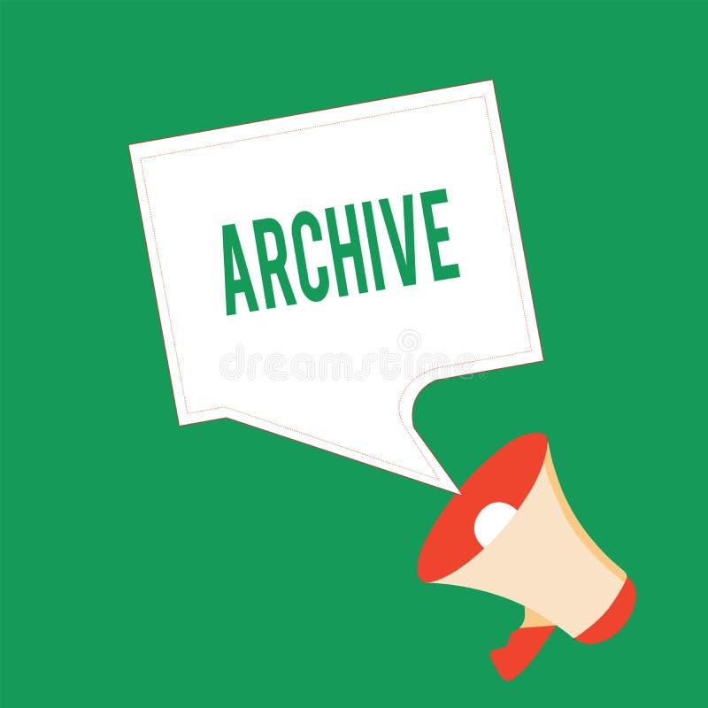 Arkiv för handskrifttexthandstil Dokument för menande samling för begrepp antecknar historiska att ge information royaltyfri illustrationer