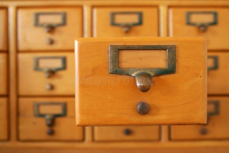arkiv för kortenhet arkivbild