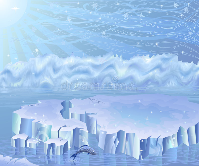 Arktische Landschaft stock abbildung
