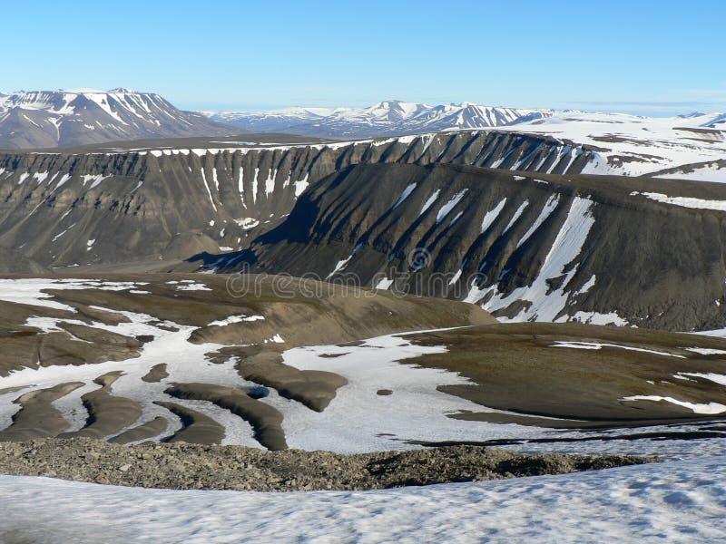 Arktische Landschaft, Svalbard lizenzfreie stockfotos