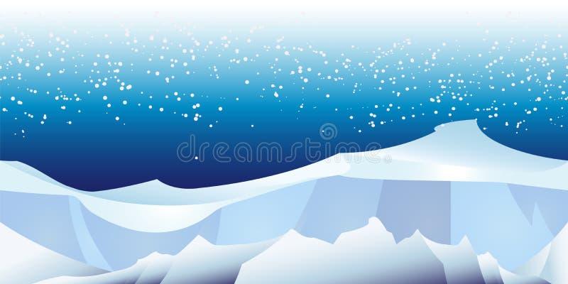 Arktisches Landschaftsmuster lizenzfreie abbildung