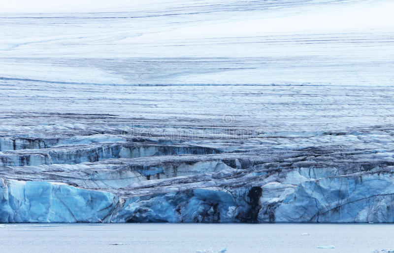 Arktisk glaciär royaltyfri fotografi