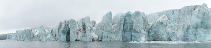 arktisk glaciärpanorama arkivfoto