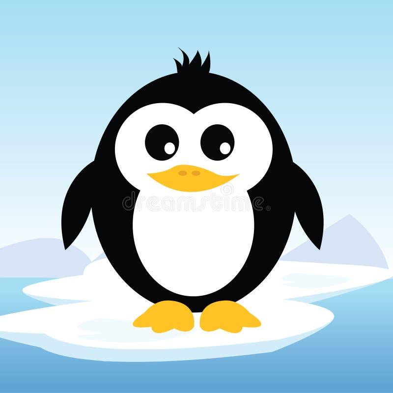 Arktisk pingvin på is vektor illustrationer