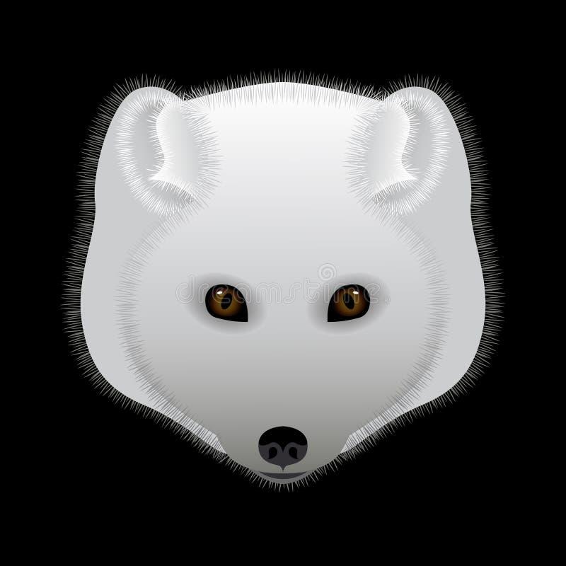 Arktisk räv Stående huvud Rov- djur av norden stock illustrationer
